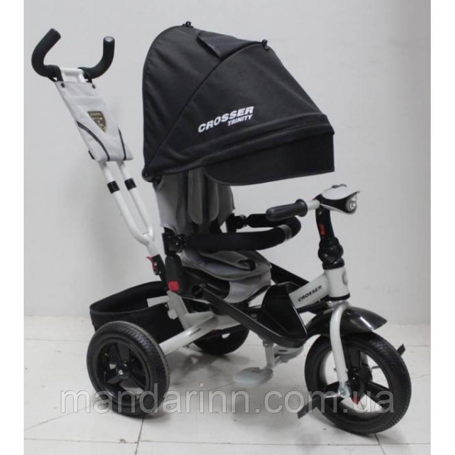 AZIMUT CROSSER T-400 TRINITY AIR дитячий велосипед триколісний чорного кольору