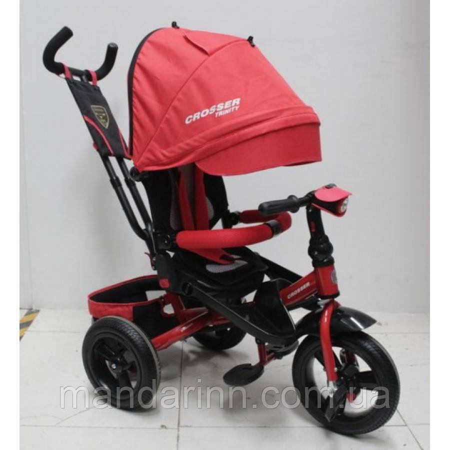 AZIMUT CROSSER T-400 TRINITY AIR детский велосипед трехколесный красного цвета