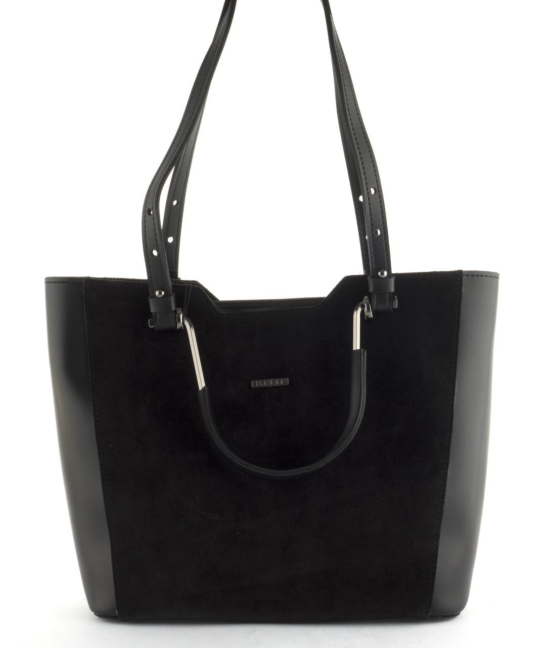 Оригинальная стильная прочная женская сумочка с замшевой лицевой часть B.Elite art. 08-76