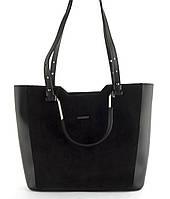 Оригинальная стильная прочная женская сумочка с замшевой лицевой часть B.Elite art. 08-76, фото 1