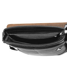 Мужская сумка мессенджер B.N.S.DAISHU 25х26х7 вертикальная спилок  м 760-2ч, фото 2