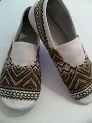 Взуття концертне чешки дитячі коричневі