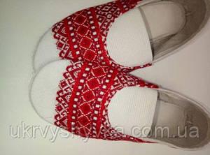 Народне взуття чешки дитячі вишиті
