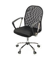 Кресло офисное на колесиках Монтана CH TILT черного цвета из ткани