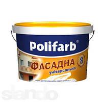 Водоэмульсионная фасадная краска Универсал фасад  1,4кг  Polifarb