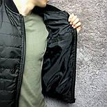 Куртка бомбер мужской черный. Турция. Живое фото, фото 3