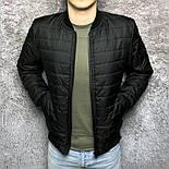 Куртка бомбер мужской черный. Турция. Живое фото, фото 2