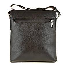 Мужская сумка мессенджер вертикальная KOCHI 25х26х7 спилок  м 760-2кор, фото 3