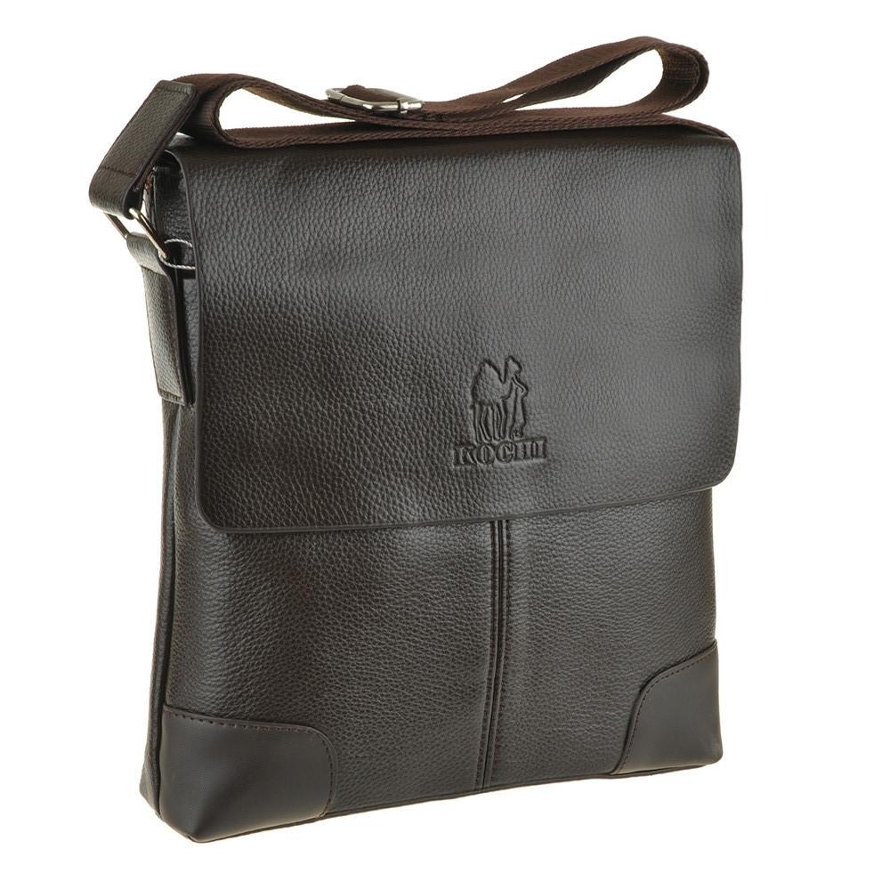 Мужская сумка мессенджер вертикальная KOCHI 25х26х7 спилок  м 760-2кор
