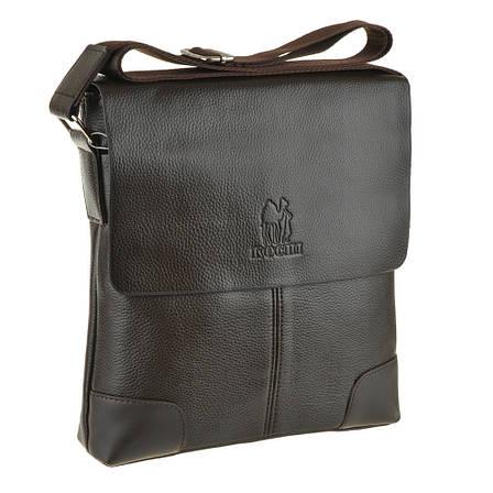 Мужская сумка мессенджер вертикальная KOCHI 25х26х7 спилок  м 760-2кор, фото 2