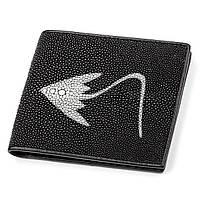 Портмоне мужское Ekzotic Leather  из натуральной кожи морского ската Черное, фото 1