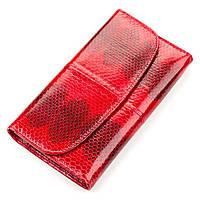 Гаманець жіночий Ekzotic Leather з натуральної шкіри морської змії Червоний, фото 1