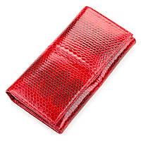 Кошелек женский Ekzotic Leather из натуральной кожи морской змеи Красный, фото 1