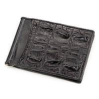 Зажим Ekzotic Leather из натуральной кожи крокодила Черный, фото 1