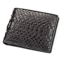 Портмоне Ekzotic Leather из натуральной кожи питона Черное, фото 1