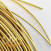 Канитель жесткая, цвет Светлое золото, диаметр 1,2 мм*5 грамм