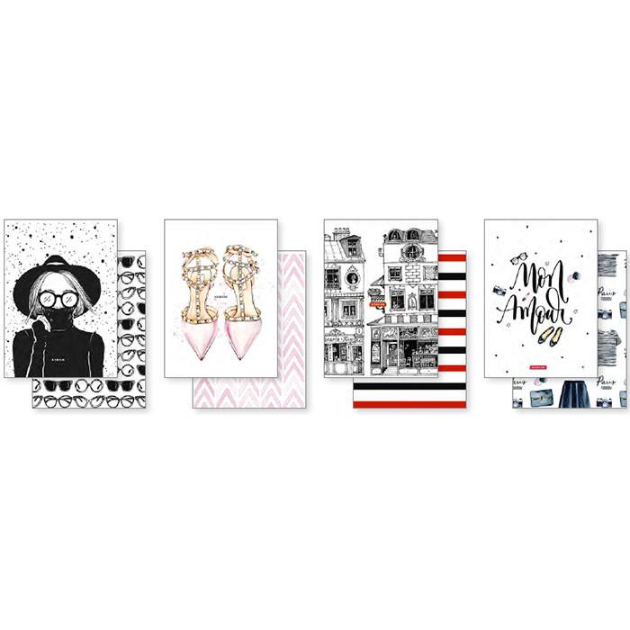 Блокнот Школярик A5-2x40-564 Twin Book на скобе 2*40 листов кремовый блок