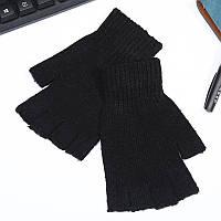 Мужские митенки черные с открытыми пальцами опт, фото 1