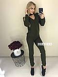 Теплый вязаный женски костюм с чокером 42-46р. (2расцв)., фото 4