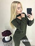 Теплый вязаный женски костюм с чокером 42-46р. (2расцв)., фото 5