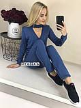 Теплый вязаный женски костюм с чокером 42-46р. (2расцв)., фото 3