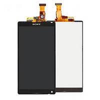 Дисплей для Sony C6502/C6503, L35h/L35i Xperia ZL с чёрным тачскрином