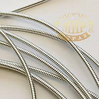 Канитель жесткая, цвет Серебро, диаметр 1,2 мм*5 грамм