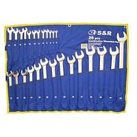 Набір ключів гайкових комбінованих S&R 26шт (6-32мм)