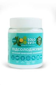 """Підсолоджувач """"СолоСвит Stevia+"""", банку 200г"""