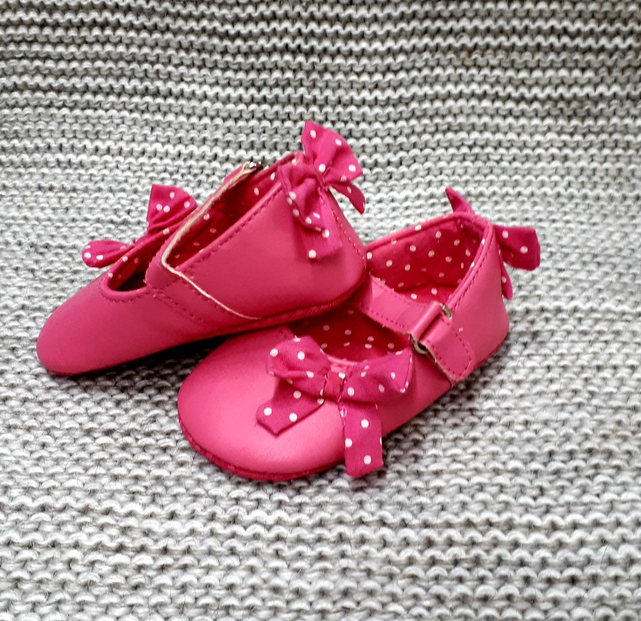 Детские пинетки для девочки на липучках Fanny baby (Турция)  размер 0-4 месяца