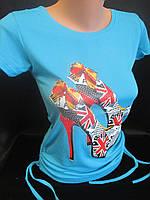 Молодежные футболки с рисунком и завязками., фото 1