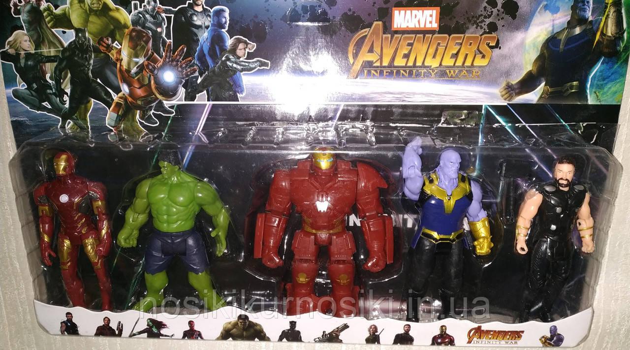 Набор Супергерои 5 фигурок, 2 комплектации, подсветка