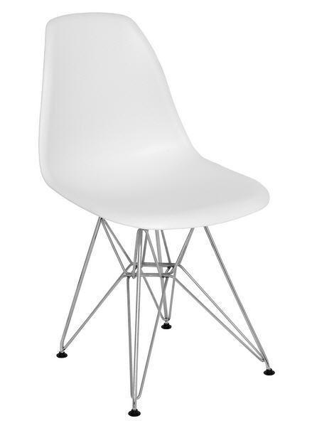 Пластиковый стул Тауэр белый от SDM Group, хромированные ноги