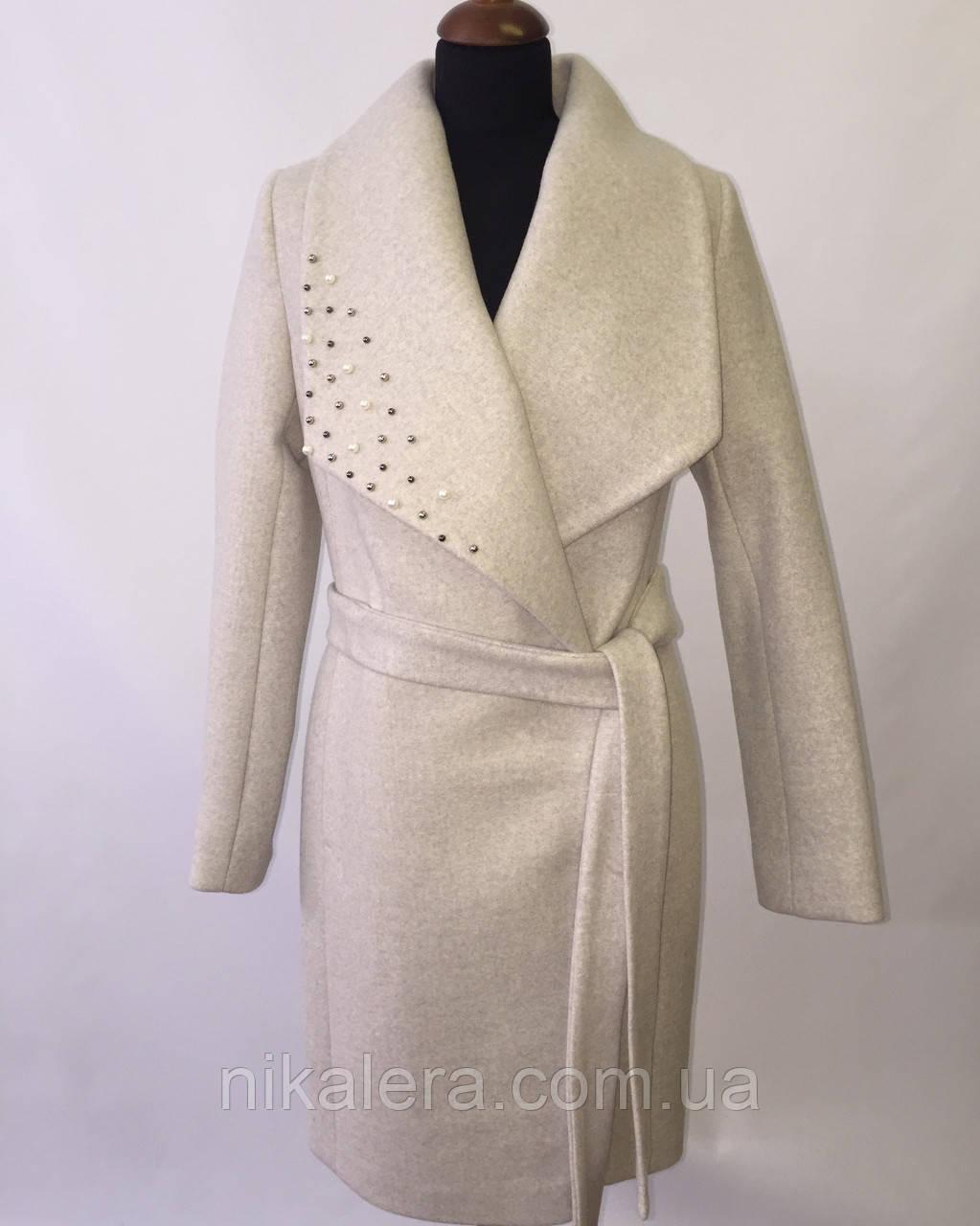 Пальто с шалевым воротником   рр 42-52