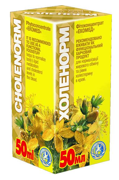 БАД Холенорм- фитобальзам,способствует рассасыванию атеросклеротических бляшек(30мл.,Украина )