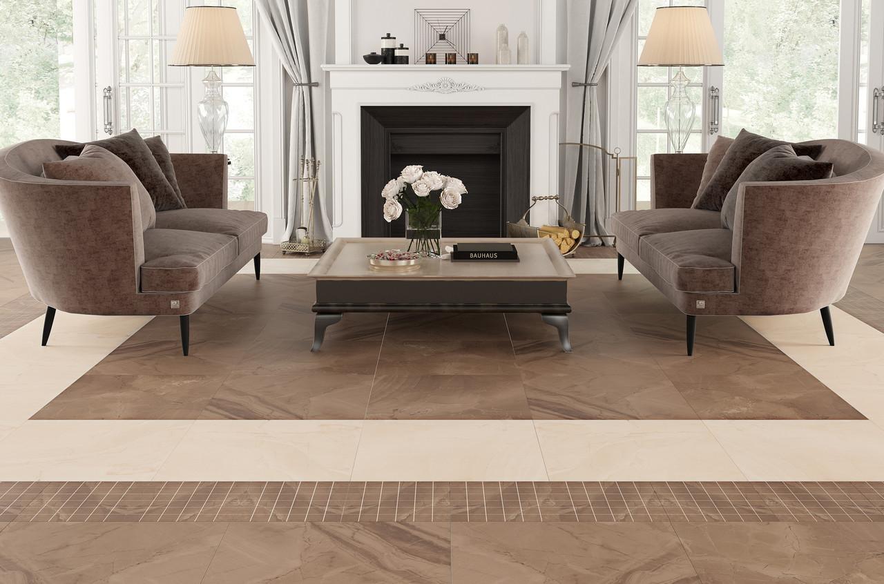 Плитка для підлоги Crystal Коричневий 600х600х10