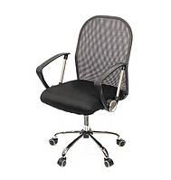 Кресло офисное на колесиках Монтана CH TILT серого цвета из ткани