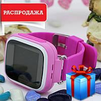 Детские часы Smart WatQ80 с GPS + подарок. детские смарт вотч розовые. Распродажа