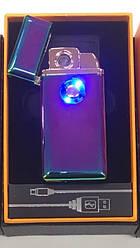 Газовая зажигалка ультратонкая металлическая перезаряжаемая перезаправляемая электронный Usb-прикуриватель