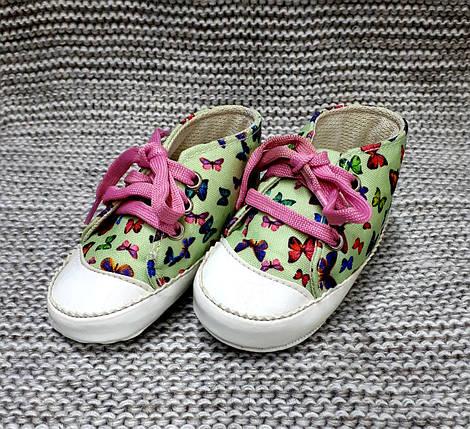 Детские пинетки для девочки мятного цвета Pamily (Турция)  размер 8 10 12  месяца, фото 2