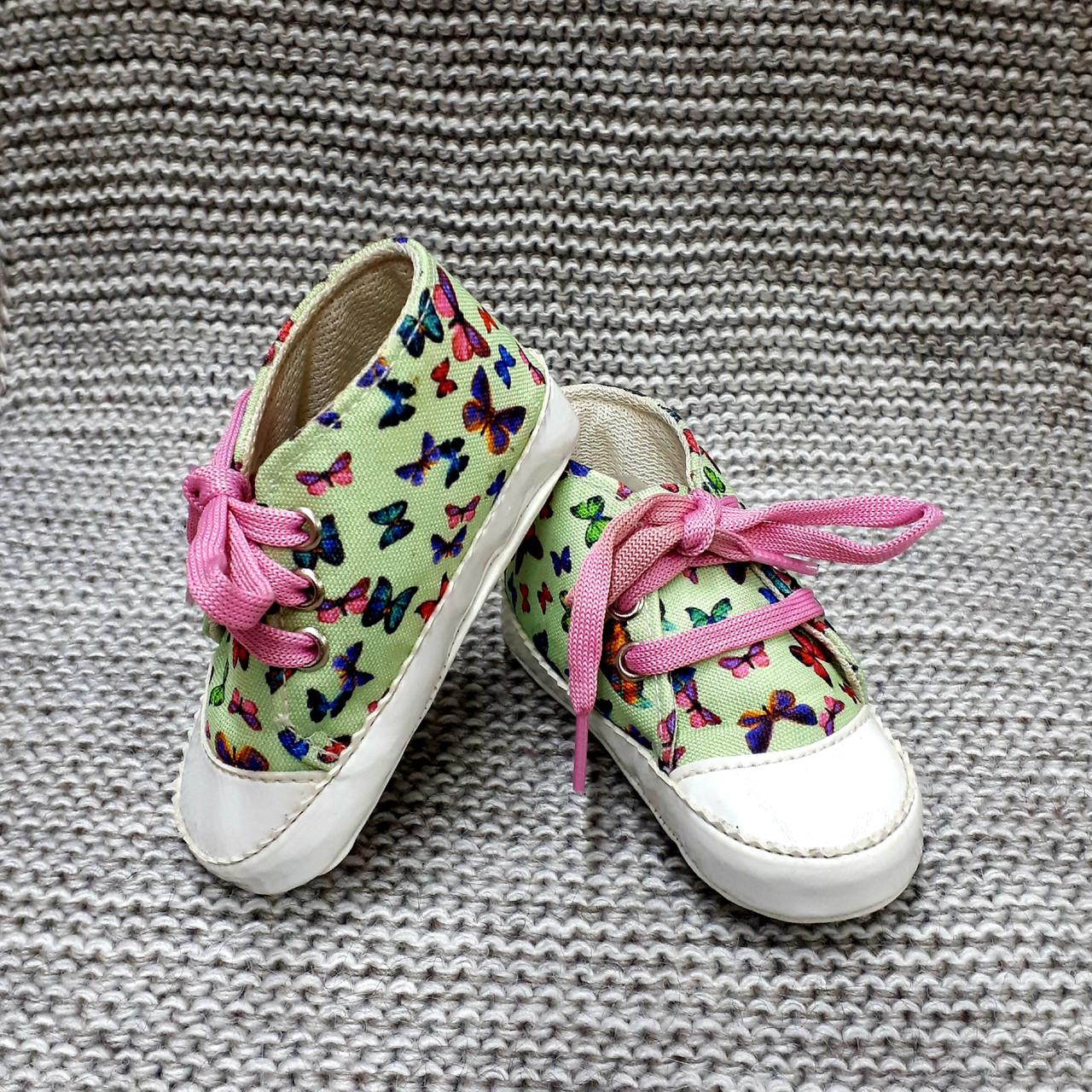 Детские пинетки для девочки мятного цвета Pamily (Турция)  размер 8 10 12  месяца