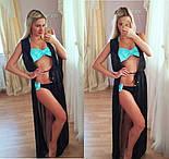 Женская пляжная накидка в пол без рукавов (расцветки), фото 3