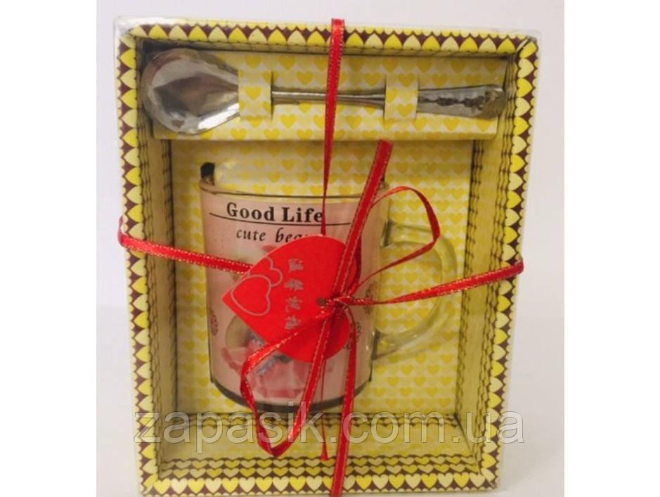 Подарочный набор Чашка Ложка День Святого Валентина 8 Марта Сувенир