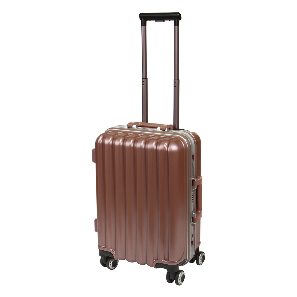 Чемодан BagHouse малый  36х51х24 цвет серебристо-розовый 4 колеса  кс325мроз