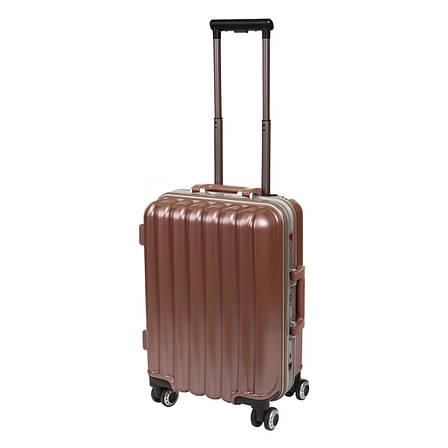Чемодан BagHouse малый  36х51х24 цвет серебристо-розовый 4 колеса  кс325мроз, фото 2