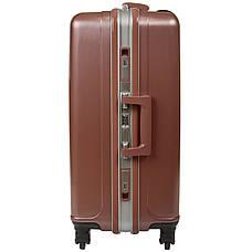 Чемодан малый пластиковый BagHouse 36х51х24 цвет розовая карамель 4 колеса  кс325мроз, фото 2