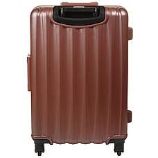 Чемодан малый пластиковый BagHouse 36х51х24 цвет розовая карамель 4 колеса  кс325мроз, фото 3