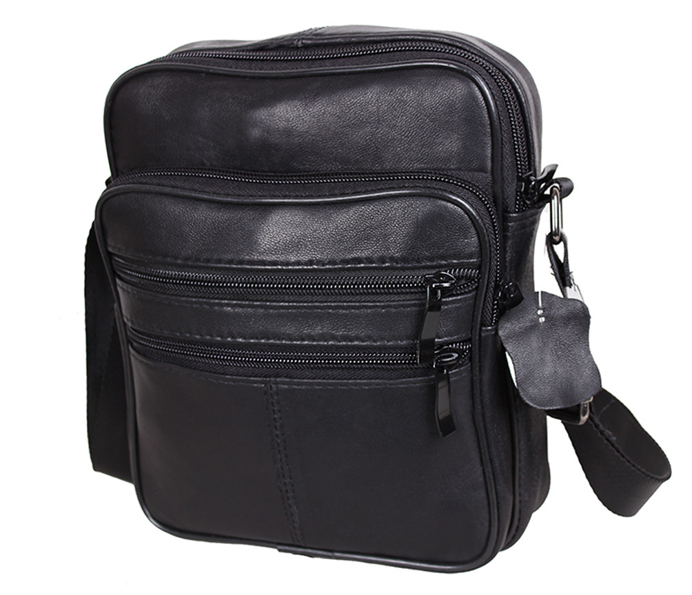 Мужская кожаная сумка SW220 Черная