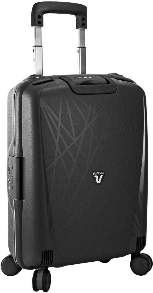 Пластиковый малый чемодан на 30 л. Roncato Light  4-х колесный 500714/01 черный