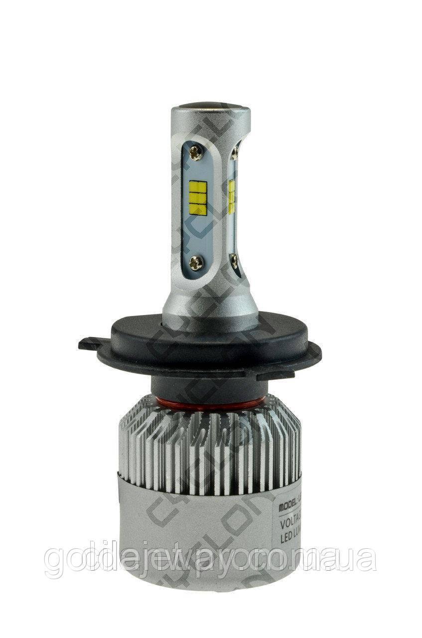 Светодиодная лампа 1шт. CYCLON LED TYPE 8 H4 Hi/Low 5000-6000K 8000Lm CSP 12-24V